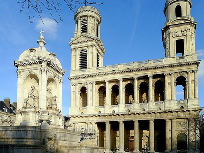 The Church And Fountain Of Saint-Sulpice