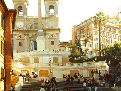 The Church And The Spanish Steps