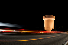 The Citys Water Tower Located On Haltom Road