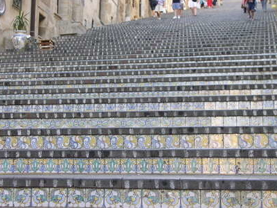 The Decorated Staircase Of Caltagirone.