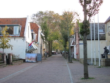 The Dorpsstraat In Oost Vlieland