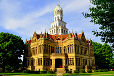 The Edgar County Courthouse In Paris Illinois