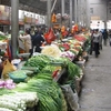 The Farmer Market Near The Potala In Lhasa