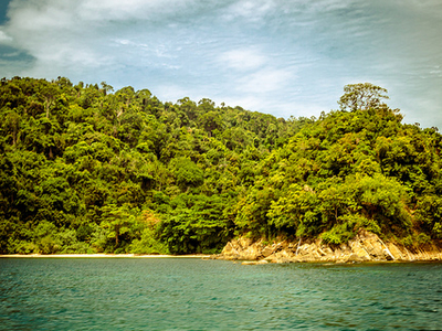 The Flank Of Gaya Island