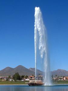The Fountain Of Fountain Hills Arizona Spews Water