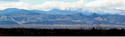 The Front Range As Seen From Westlands Park In Greenwood Village
