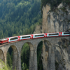 The Glacier Express On The Landwasser Viaduct