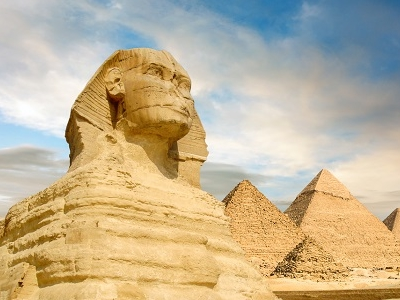 The Great Sphinx & Pyramids In Giza