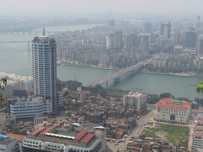 The Liu River In Central Liuzhou