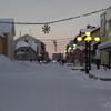 The Main City Road Storgatan In Gllivare