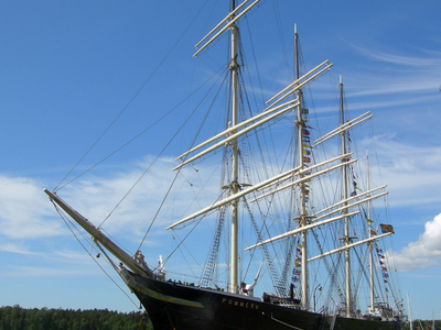 The Museum Ship Pommern Is In The Mariehamn
