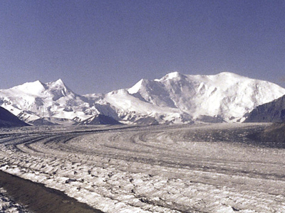 The Nabesna Glacier With Mount Blackburn