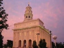 The Newly Rebuilt Nauvoo Lds Temple.