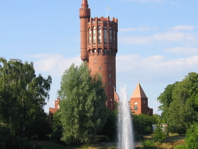 The Old Water Tower In Landskrona