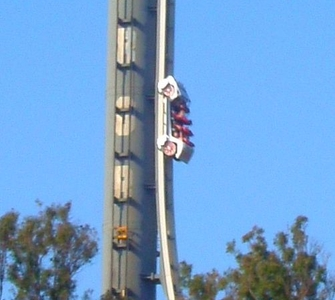 The Original Escape Pod Launching Up The Dreamworld Tower