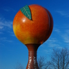 The Peachoid Peach Water Tower Along Interstate 85 In Gaffney.