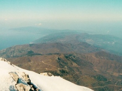 The Peninsula From Summit Of Mount Athos