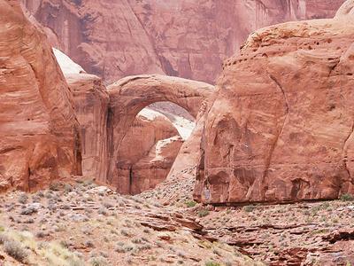 The Rainbow Bridge And Surrounding Canyon
