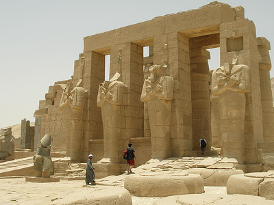 The Ramesseum At Luxor In Egypt