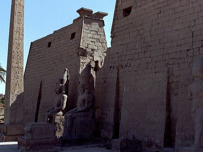 The Remaining Obelisk At Luxor Temple Pylon