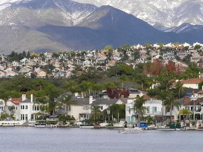 The Saddleback Mountains And Lake Mission Viejo