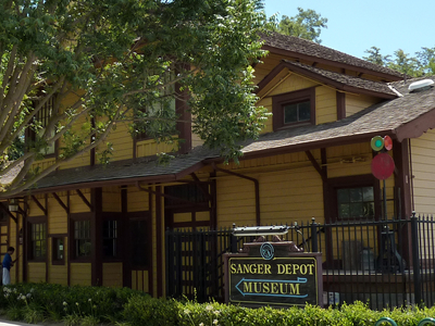 The Sanger Depot Museum Is Located In The Old Sanger Railroad De