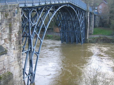 The Severn In Flood At Ironbridge