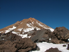 The Snow Capped Summit Of Teide