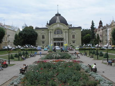 The Square In Front Of The Chernivtsi Theatre.