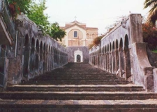 The Steps Of The Chiesa Madre Di Santa Maria Dellalto.