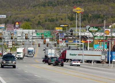 The  Stretch Of U.s. Route 30 In Breezewood
