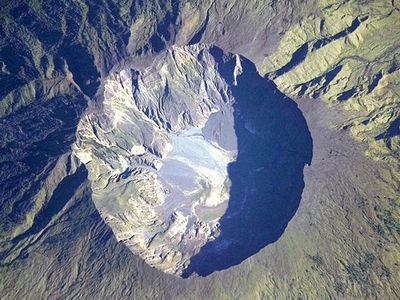 The Summit Caldera Of The Volcano