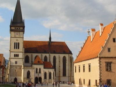 Town Hall Square In Bardejov