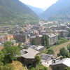 The Town Of Encamp And The Valira Dorient River Valley