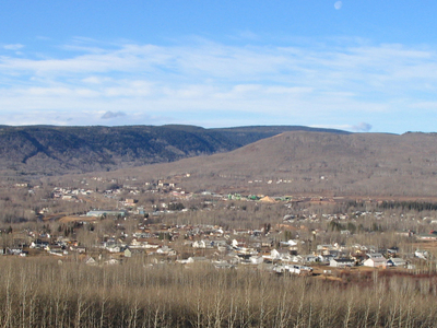 The Townsite Of Chetwynd In The Foothills Of The Rocky Mountains