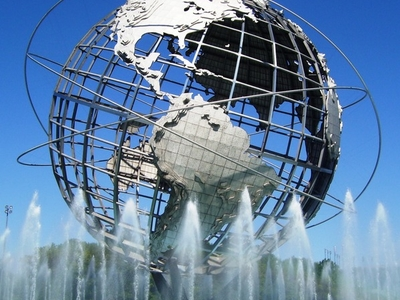 The Unisphere In Flushing Meadows Corona Park
