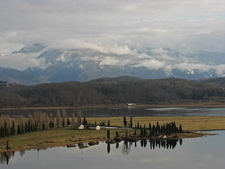Caucasus Mountains From Pitsunda Cape.