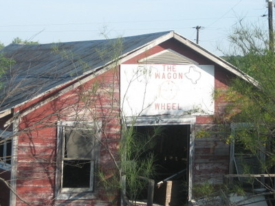 The  Wagon  Wheel  Restaurant Abandoned In  Cotulla