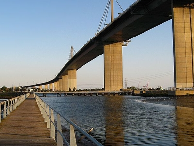 The West Gate Bridge As Seen From The Walkway