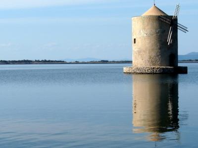 The Windmill On The Lagoon Of Orbetello.