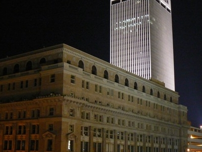 The Woodmen Tower At Night