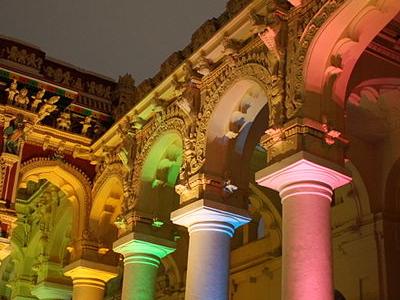 Thirumalai Nayakkar Mahal Madurai At Night Show