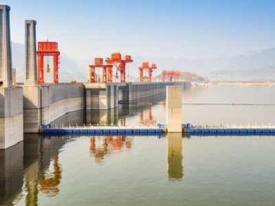 Three Gorges Dam Near Sandouping