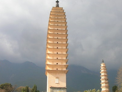 Three  Pagodas From Bottom View