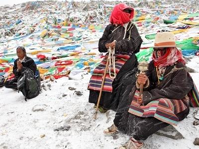 Tibetan Women At Drolma La - China