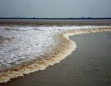 Tidal Bore At The Qiantang River In Hangzhou