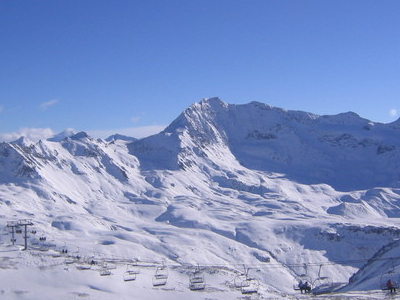A Ski Lift On The Grande Motte
