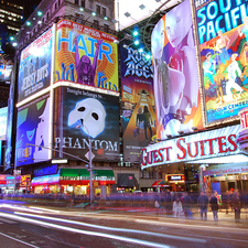 Broadway Show Billboards In Times Square