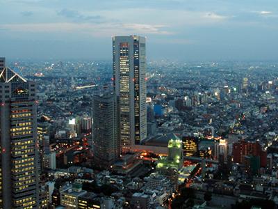 Tokyo Opera City Tower At Night