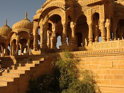 Tombs In Thar Desert Near The Jaisalmer